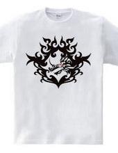 バハムート(頭部)トライバルデザイン-Black-