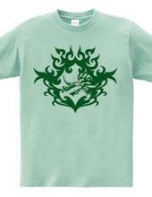 バハムート(頭部)トライバルデザイン-Green-