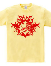 Bahamut (head) tribal design - Red-