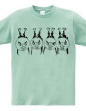 4匹のキクガシラコウモリ