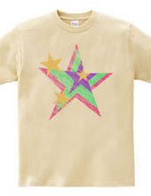 Poppin colourful star