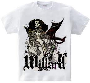WILLARD 海賊女とラム酒 ガールズイラスト