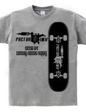 skate board タトゥーマシン スケートボード ロゴ 半袖 Tシャツ 【