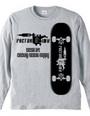 skate board タトゥーマシン スケートボード ロゴ 長袖 Tシャツ 【
