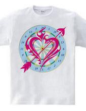 Heart tribal Darts-Magenta
