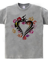Heart tribal type1 - rose heart-