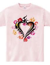 Heart tribal type1 - rose heart-