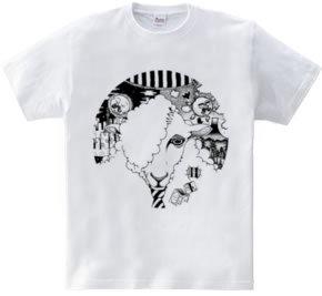 群れないヒツジのためのTシャツ。