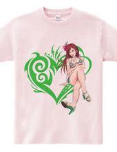 Heart type2 - girl bikini - Green