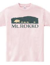 ウリボウ六甲山シルエットTシャツ-No.1山登り