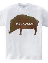 Rokko mountain boar T shirt watercolor f