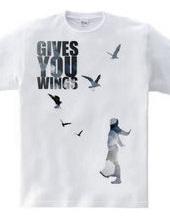 翼を授ける。