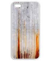 錆びた波トタン板