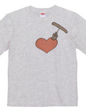 Heart and corkscrew