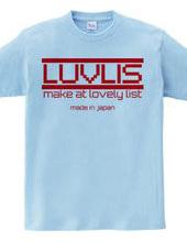 LUVLIS Tシャツ。