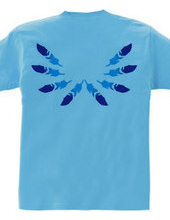BACK FEATHER BLUE