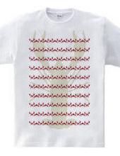 ザリガニボーダーTシャツ