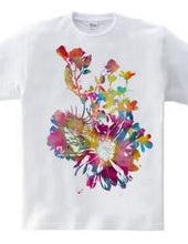 シェルフラワーTシャツ