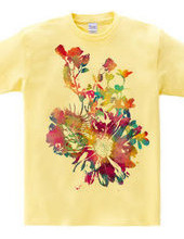 Shell flower t-shirt