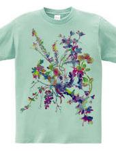Multicoloured flower