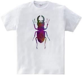 水彩クワガタムシTシャツ