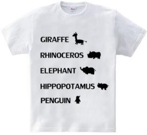 メジャーアニマルTシャツ