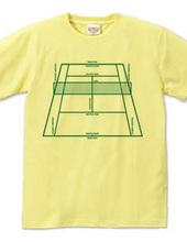 テニスコートTシャツ