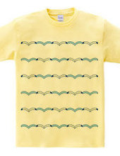 Border shirts of the seagulls and the wa