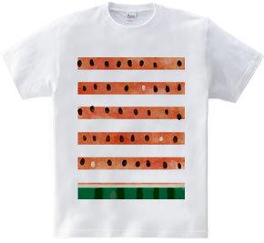 スイカ ボーダーTシャツ 水彩タッチ