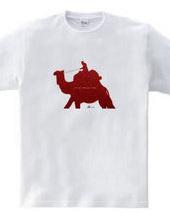 ラクダの旅赤色