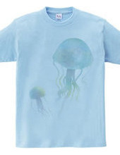 水彩クラゲTシャツ