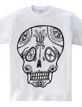 Flower skull and crossbones