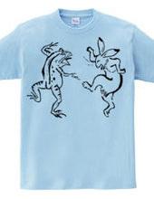 ウサギとカエル「ダンス」