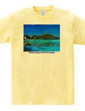 ピピ島のいろいろな青