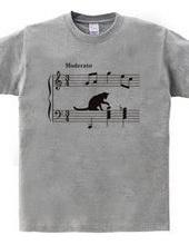 ネコ、音符にちょっかい ver.2