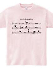 五線譜の上のネコたち