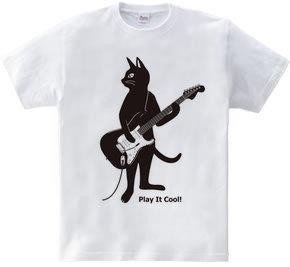 ギターを弾くネコ(猫とストラトキャスター) ver.2
