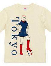 Tokyo mod girl with football.
