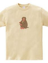 可愛い猿のイラストのファブリック