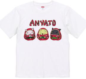 金沢弁Tシャツ~わんにゃんひめだるま~