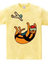スカイダイビングをするネコ