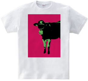Collage Art Milk Cow