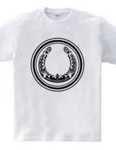 蹄鉄トライバル デザイン01-black-