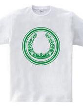 蹄鉄トライバル デザイン01-Green-