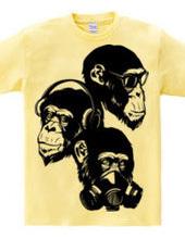 Three fool monkey