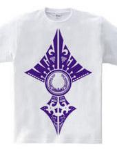 蹄鉄トライバル デザイン02-Purple-