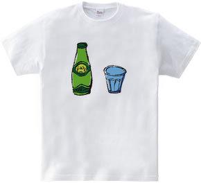 Perrier et verre