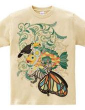 植物魚と猫蝶とオニオオハシ