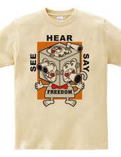 Freedom monkey chara(Black)
