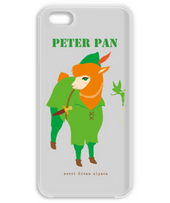 ピーターパンのアルパカ携帯ケース